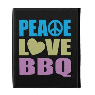 Peace Love BBQ iPad Folio Covers