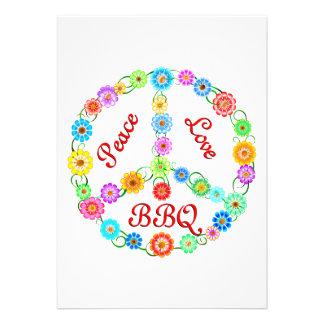 Peace Love BBQ Invite