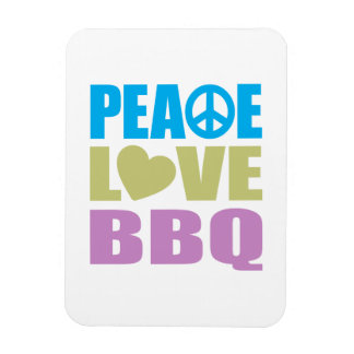 Peace Love BBQ Magnet