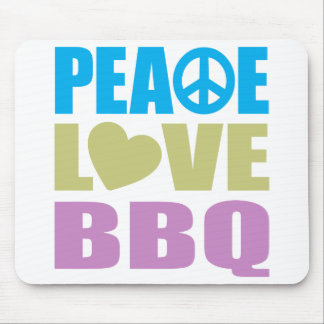 Peace Love BBQ Mouse Pad