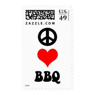 Peace Love BBQ Stamps
