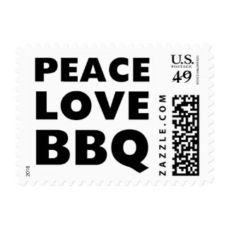 Peace Love BBQ Stamp