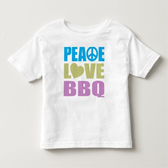 Peace Love BBQ Toddler T-shirt