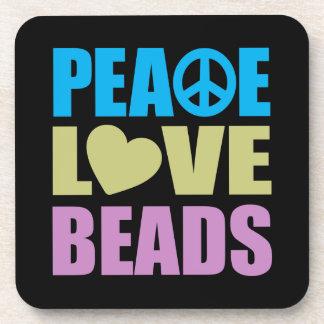 Peace Love Beads Coaster