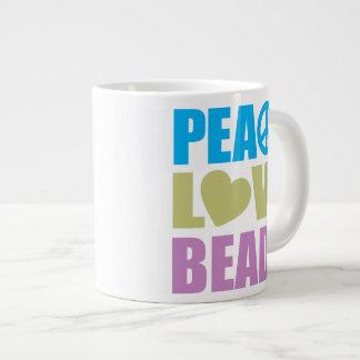 Peace Love Beads Large Coffee Mug