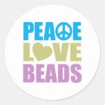 Peace Love Beads Sticker