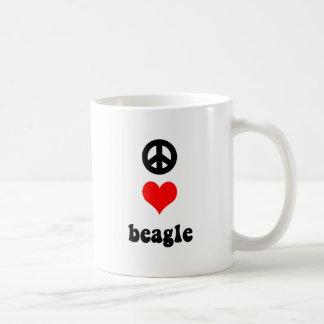 Peace love Beagle Coffee Mugs