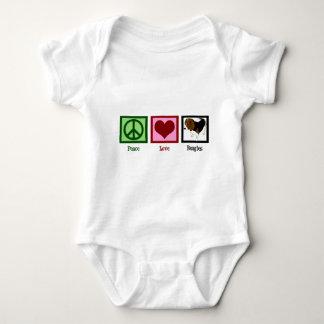 Peace Love Beagles Baby Bodysuit