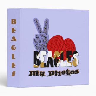 Peace Love Beagles Vinyl Binders