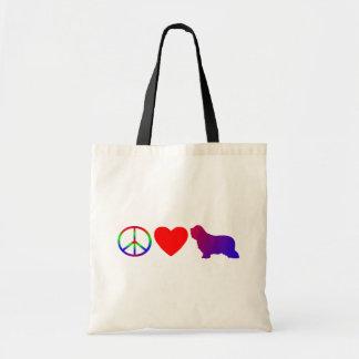 Peace Love Bearded Collies Bag