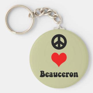 Peace love Beauceron Keychain