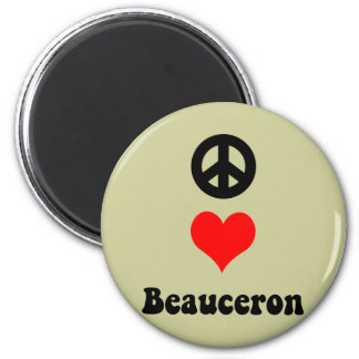 Peace love Beauceron Magnet