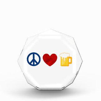 Peace Love Beer Acrylic Award