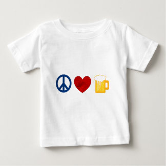 Peace Love Beer Baby T-Shirt