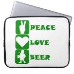 Peace Love Beer Computer Sleeves