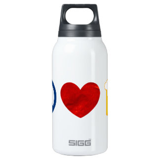 Peace Love Beer Insulated Water Bottle