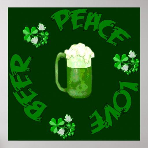 Peace Love Beer Posters