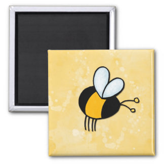 peace love bees 2 inch square magnet