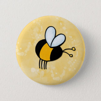 peace love bees button