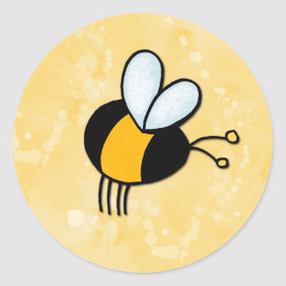 peace love bees classic round sticker