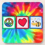 Peace, Love, Bees Coaster