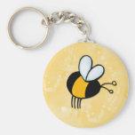peace love bees keychain