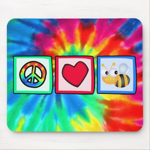 Peace, Love, Bees Mouse Pad