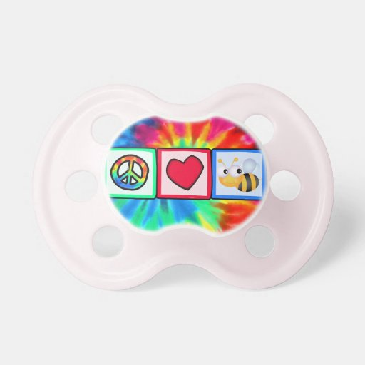 Peace, Love, Bees Pacifier