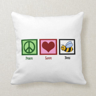 Peace Love Bees Pillow