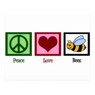 Peace Love Bees Postcard