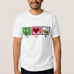 Peace Love Bees T Shirt