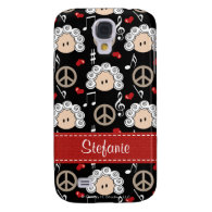 Peace Love Beethoven  Galaxy S4 Cases