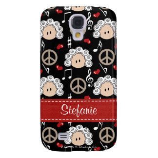 Peace Love Beethoven  Galaxy S4 Cover