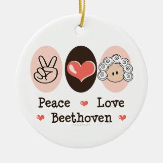 Peace Love Beethoven Ornament