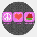 Peace Love Belarus Stickers