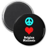 Peace love Belgian Malinois Magnet