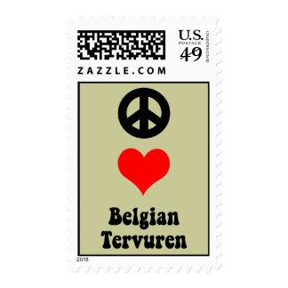 peace love Belgian Tervuren Postage Stamp