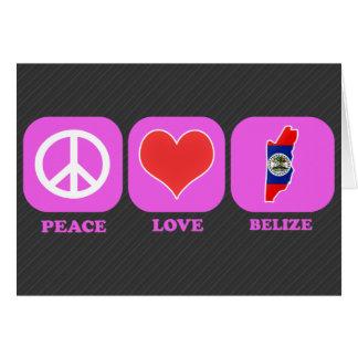 Peace Love Belize Card