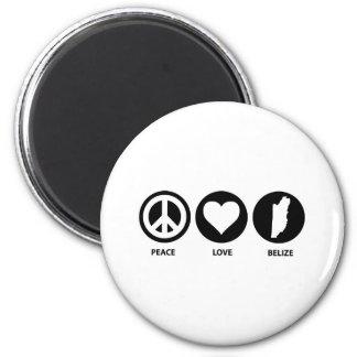 Peace Love Belize Magnet