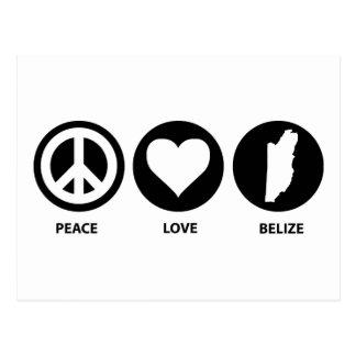 Peace Love Belize Postcard