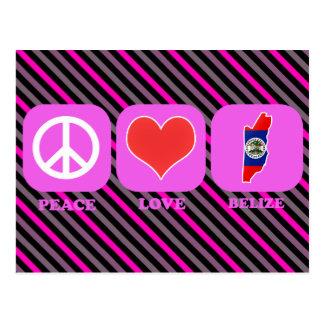 Peace Love Belize Post Cards