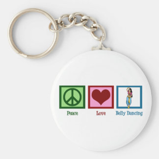 Peace Love Belly Dancing Basic Round Button Keychain