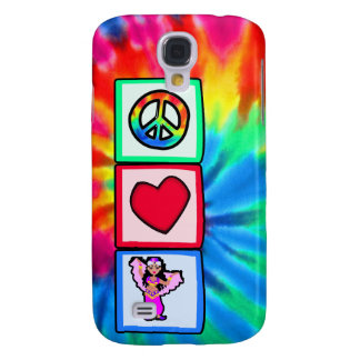 Peace, Love, Belly Dancing Samsung Galaxy S4 Cases
