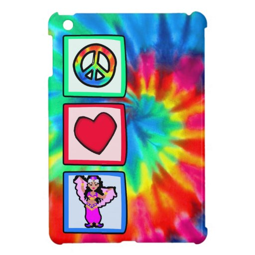 Peace, Love, Belly Dancing Cover For The iPad Mini