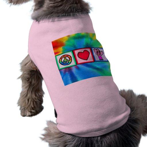 Peace, Love, Belly Dancing Dog Tee Shirt