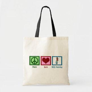 Peace Love Belly Dancing Tote Bag