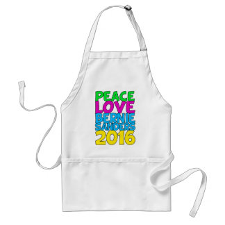 Peace Love Bernie Sanders 2016 Adult Apron