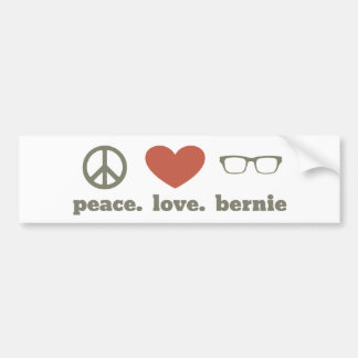 Peace Love Bernie Sanders Bumper Stickers