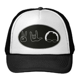 Peace, Love, Bernie Sanders Trucker Hat