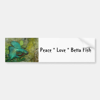 Peace Love Betta Fish Bumper Sticker